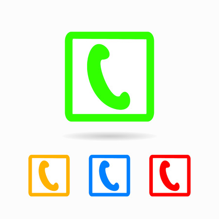 hotlink: phone icon. isolated on white background Trendy flat style for graphic design, logos, website, social media, UI, mobile application
