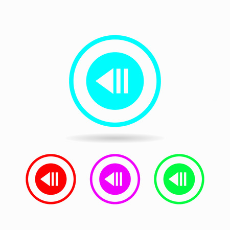 backward icon. isolated on white background Trendy flat style for graphic design, logos, website, social media, UI, mobile application