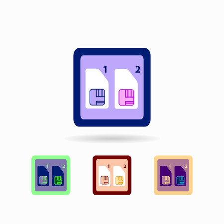 Icon Settings SIM cards. isolated on white background Trendy flat style for graphic design, logos, website, social media, UI, mobile application