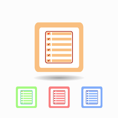 appointment book: Icon Organizer. isolated on white background Trendy flat style for graphic design, logos, website, social media, UI, mobile application