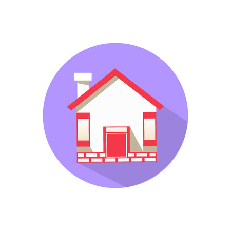 house. on a white background in a bright circle. Trendy flat style for graphic design, logos, website, social media, mobile applications