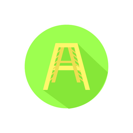 Icon stairs on an isolated white background. Illustrations used for print, website, smartphone, wallpaper, ornaments, decorations, etc