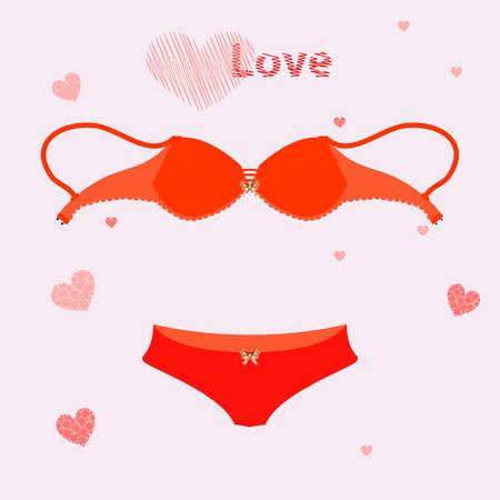 Bra for love underwear. illustration. use a smart phone, website, printing, decorating etc Illustration