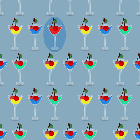 seamless pattern with drinking glasses. concept of recreation and entertainment. illustration. use a smart phone, website, printing, decorating etc .. Illustration