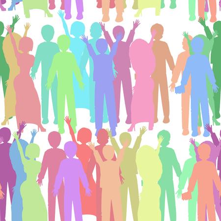 manifest: Seamless people pattern. illustration. use a smart phone, website, printing decorating etc