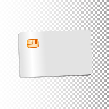 retailing: Credit card details with realistic geometrical design isolated on a white background. Illustration for your design.