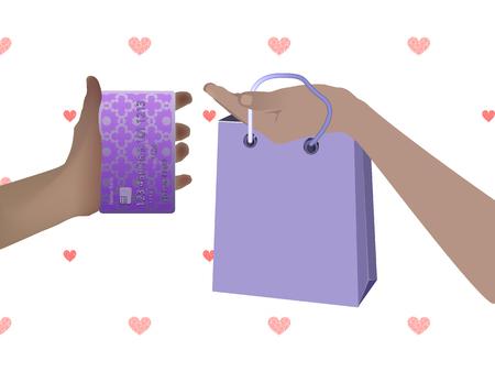 Concept of purchase non-cash settlement