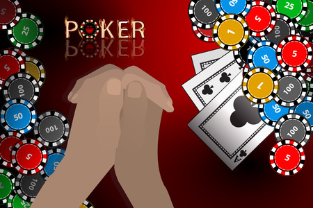 lear: The hands folded by the lock think the move. Poker chips game for your design.