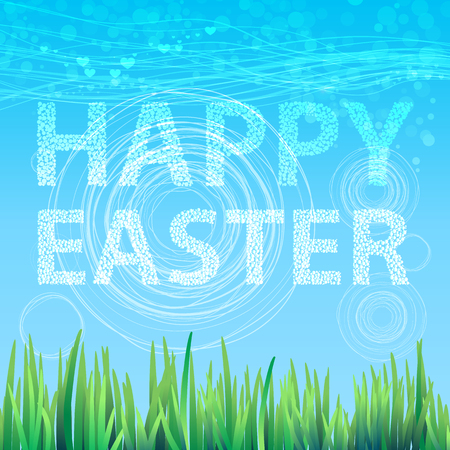 Background sky spring easter happy. Vector for your design.