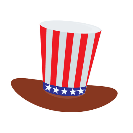 The hat of the American flags. ON THE BACKGROUND WHITE. Independence Day United States. Illustration