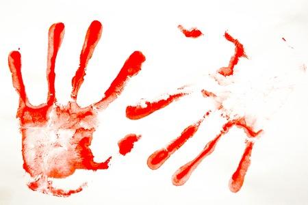 bloody hand print: Concept of crime. fingerprints. Photo for your design