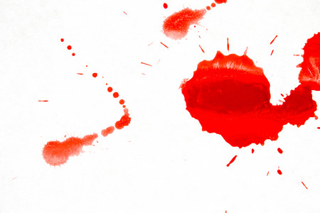 blood. Evidence at the crime scene. on a white background. Photo for your design