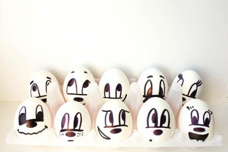 Ein Ei Mit Einem Gesicht Lustig Und Suss Traurig Im Hut Amigo