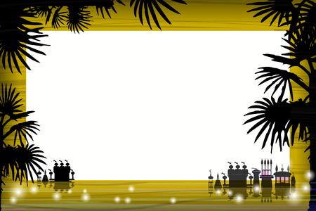 photo album: Photo frame summer. Vector illustration
