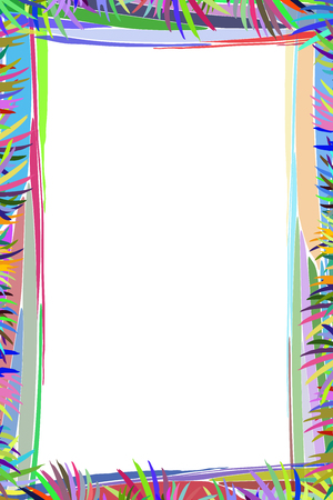 Photo frame summer. Vector illustration for your design. Mosaic elements multicolored abstract elements. Vertical sheet orientation