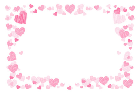 Photo frame. Hearts. for lovers. Horizontal orientation. Illustration for your design