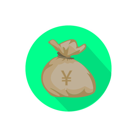 A bag with money vector illustration for your design.