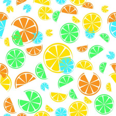 A citrus seamless pattern vector illustration for your design Illustration