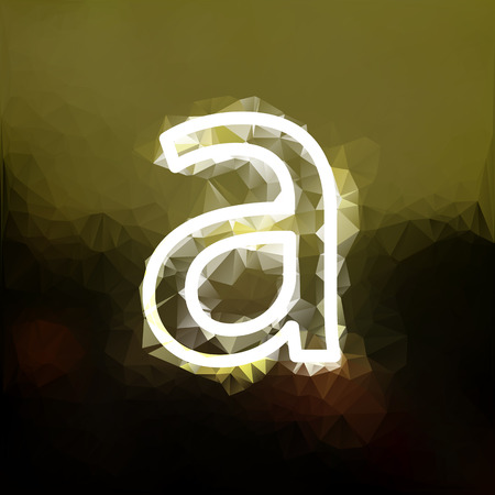 The letter A, spotted gold background. Different calibrated trawls illustration. Illustration