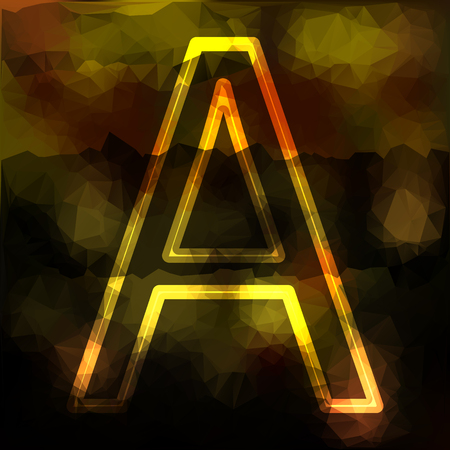 the capital letter A spotted background in different calibrated trawls Illustration