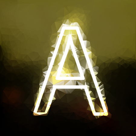 The capital letter A spotted in GOLD background with different calibrated trawls