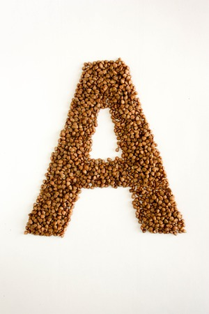 alphabet A of buckwheat porridge.