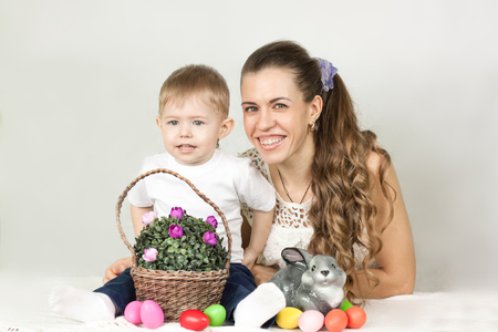Easter. mother and child