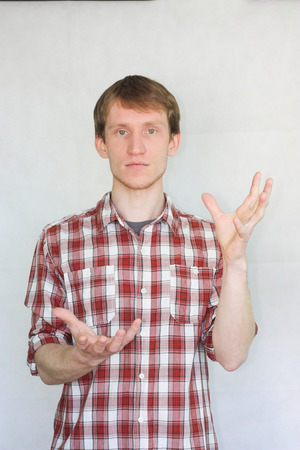 hands concept. man handsome. holds in hands