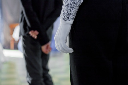 aristocrat. the glove is white Banque d'images