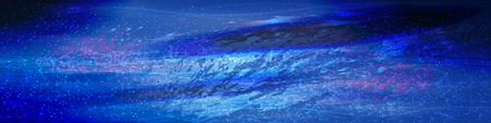 cosmos panoramic horizontal orientation. starry sky on a blue background