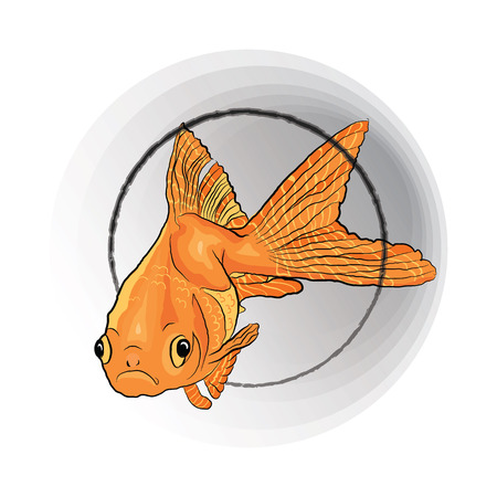 concept of wish fulfillment. magic fish from a fairy tale. Vector illustration on white background. sketching style