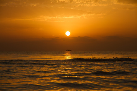 morning sun: Sunset with Boat