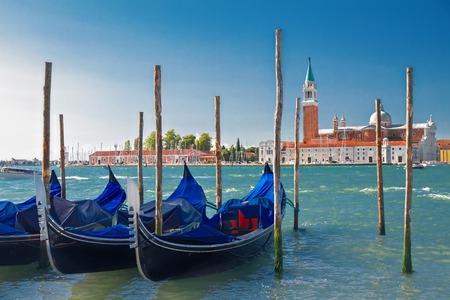 berth: Boats at the berth in Venice, Italy