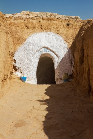 dwelling: entry into dwelling Berbers in the Atlas Mountains