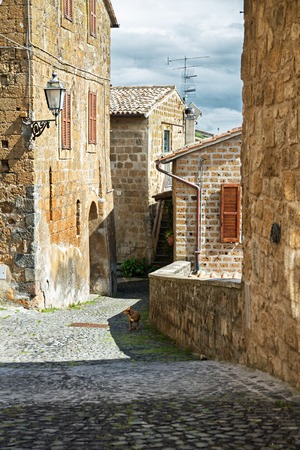 orvieto: Ancient streets of the city Orvieto, Italy, Toscana