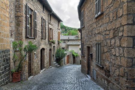Ancient streets of the city Orvieto, Italy, Toscana