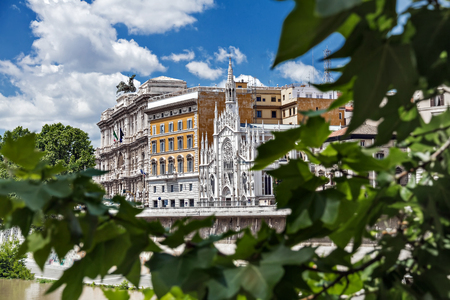 gothic heart: The Gothic Basilica of the Tiber River-Roman Church of sacred heart