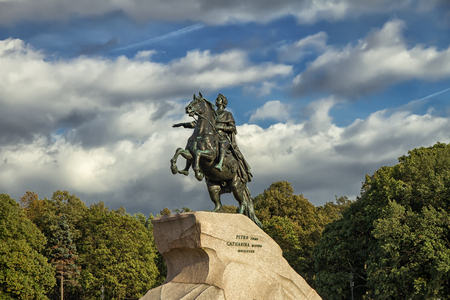 uomo a cavallo: Peter the Great monument, the Bronze Horseman, St. Petersburg Russia