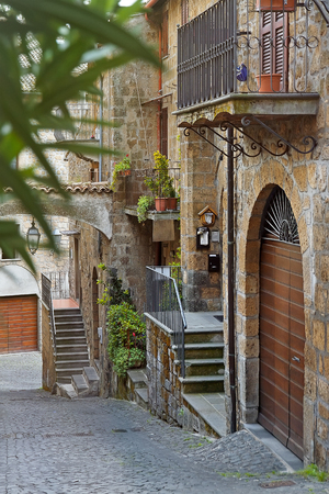 Little courtyard in Orvieto, Italy, Toscana