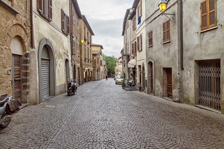 Street of city Orvieto, Italy, Toscana
