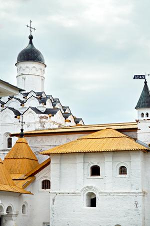 Medieval male Orthodox Alexander-Svirsky Monastery, St. Petersburg, Russia, XV century