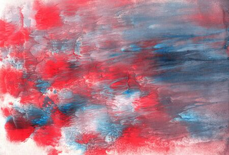 Abstract Fractal Texture With Red Gray And Blue Paint Lines
