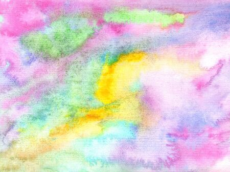 pink yellow green blue watercolor pastel background with diagonal lines and spots