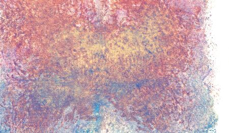 abstract watercolor paint textural background with pink, blue and yellow spots, gradients, nature on white background