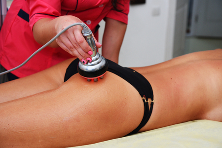 Rf skin tightening. Vacuum massage. Hardware cosmetology. Body care. Non surgical body sculpting. anti-cellulite and anti-fat therapy in beauty salon.