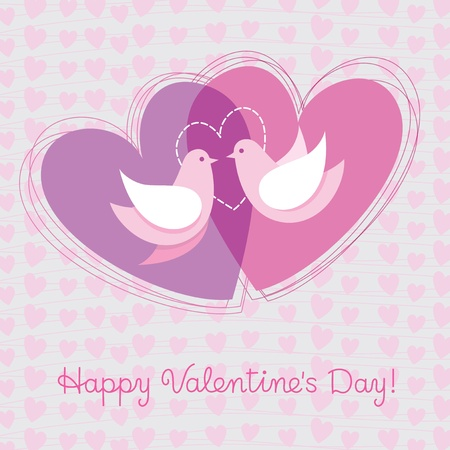 Card to the day of Valentine Vector