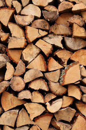 Stacked firewood as background