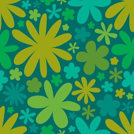 tileable background: Seamless flower pattern background , vector illustration