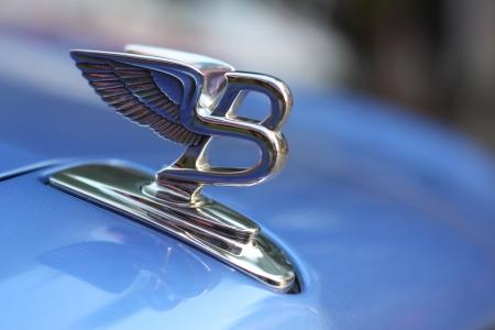 Figure-emblem Bentley on a car cowl