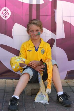 Swedish football fans on euro 2012 in kievPhoto taken on: June 19th, 2012